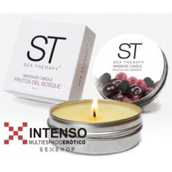 Massage Candle  un tibio masaje de placer-Frutos Rojos 60cc